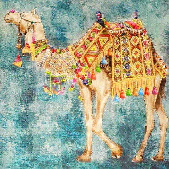 Πίνακας καμβάς σε κάδρο με πούλιες Καμήλα 80x80cm 90E 674 3068 600x601 1