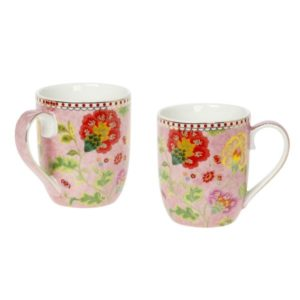 floral pink mug 150 13E