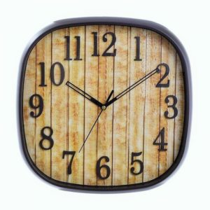 Inart Ρολόι Τοίχου 30x3.5x30cm 3 20 506 0004