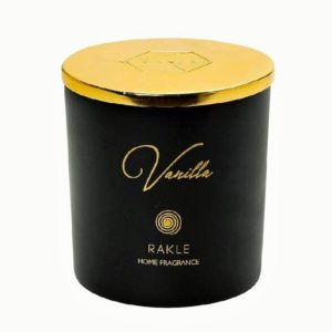 RAB432K6 αρωματικο κερι με καπακι μαυρο χρυσο vanilla 140g c 2